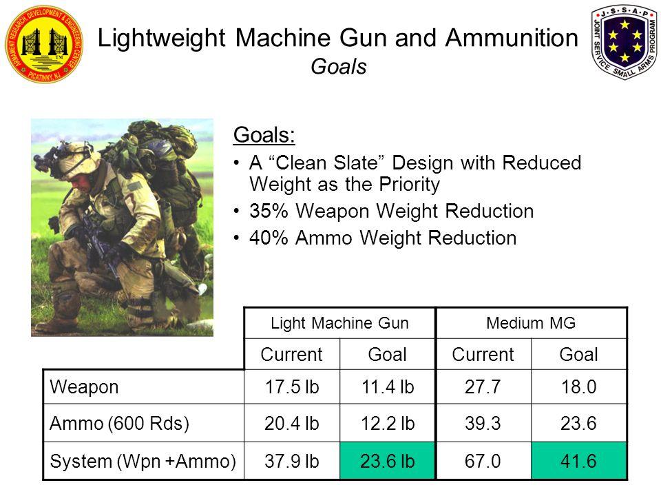 Lightweight Machine Gun and Ammunition Goals