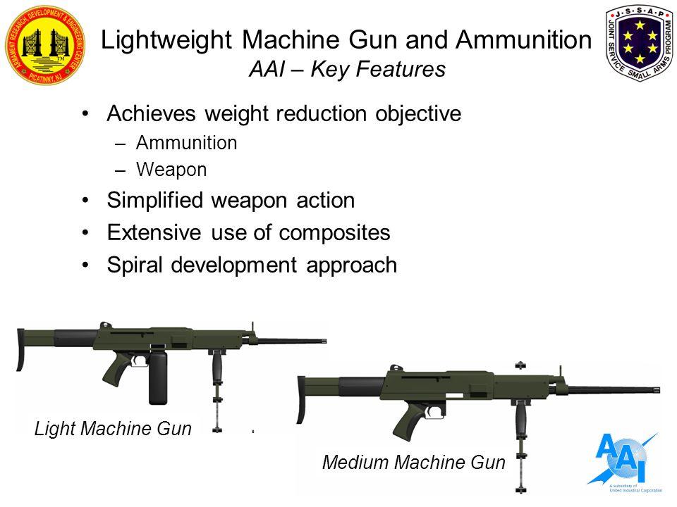Lightweight Machine Gun and Ammunition AAI – Key Features