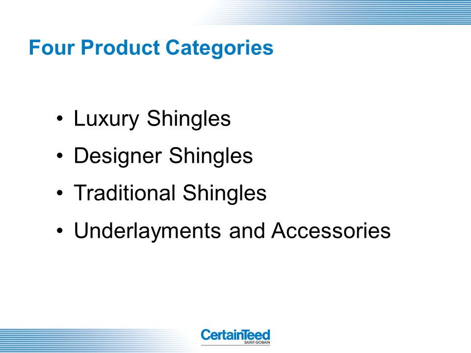 Four Product Categories