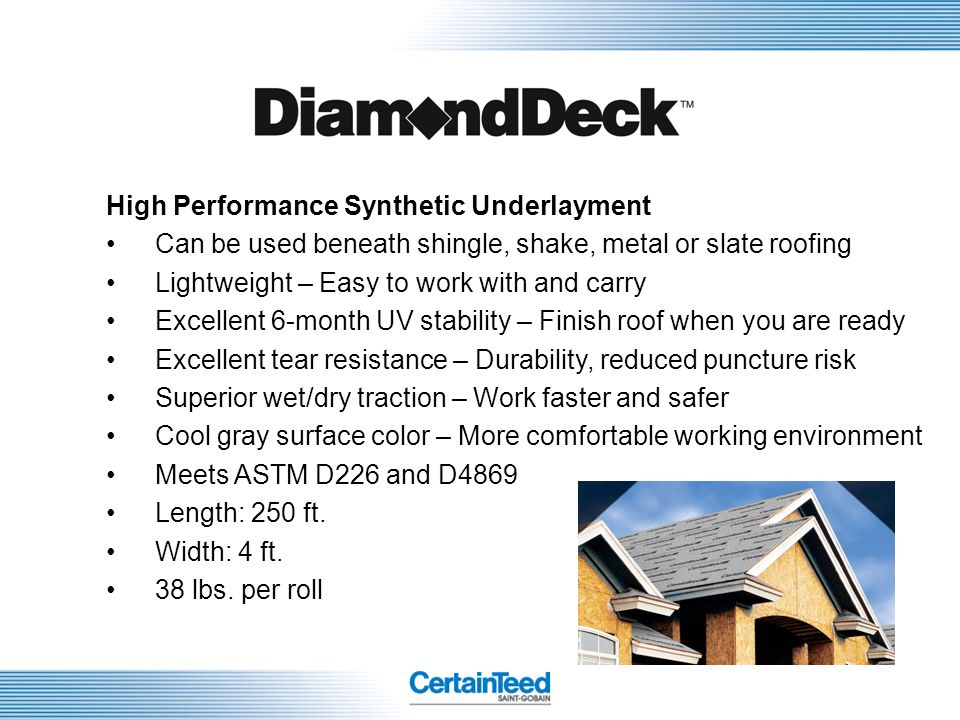 High Performance Synthetic Underlayment