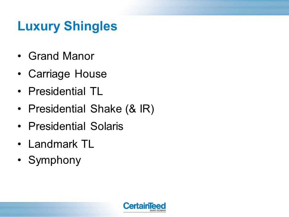 Luxury Shingles Grand Manor Carriage House Presidential TL