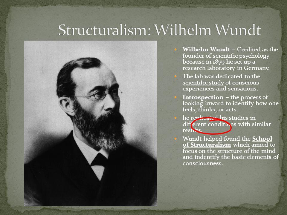 Structuralism: Wilhelm Wundt