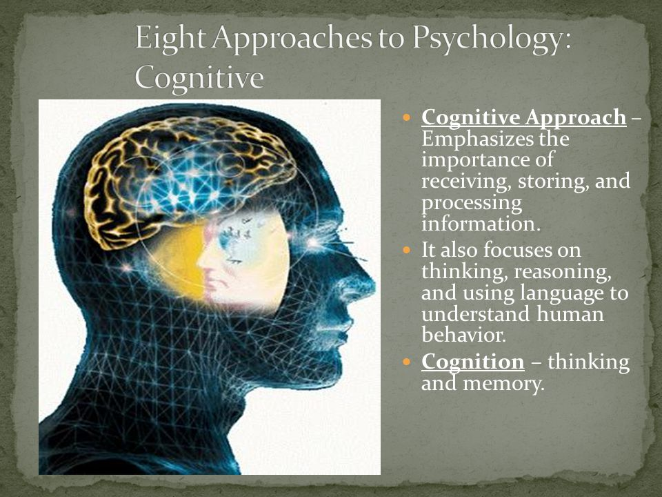 Eight Approaches to Psychology: Cognitive