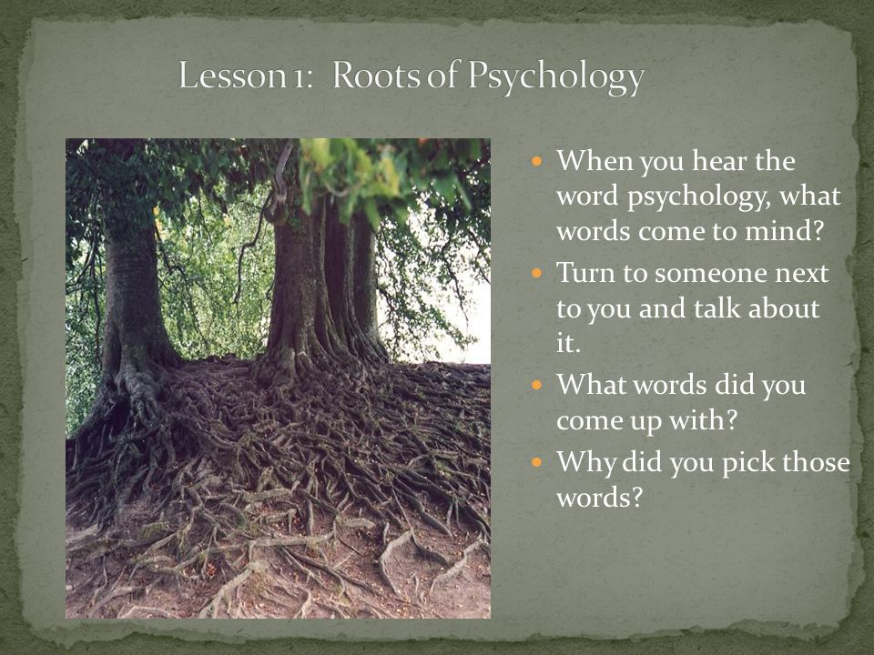 Lesson 1: Roots of Psychology