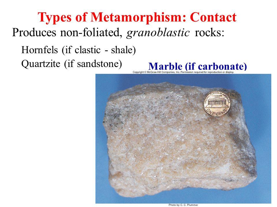 Types of Metamorphism: Contact