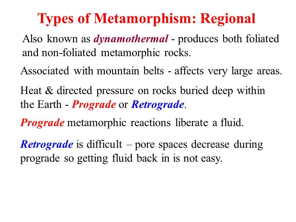 Types of Metamorphism: Regional