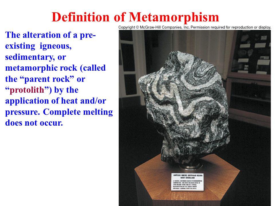 Definition of Metamorphism