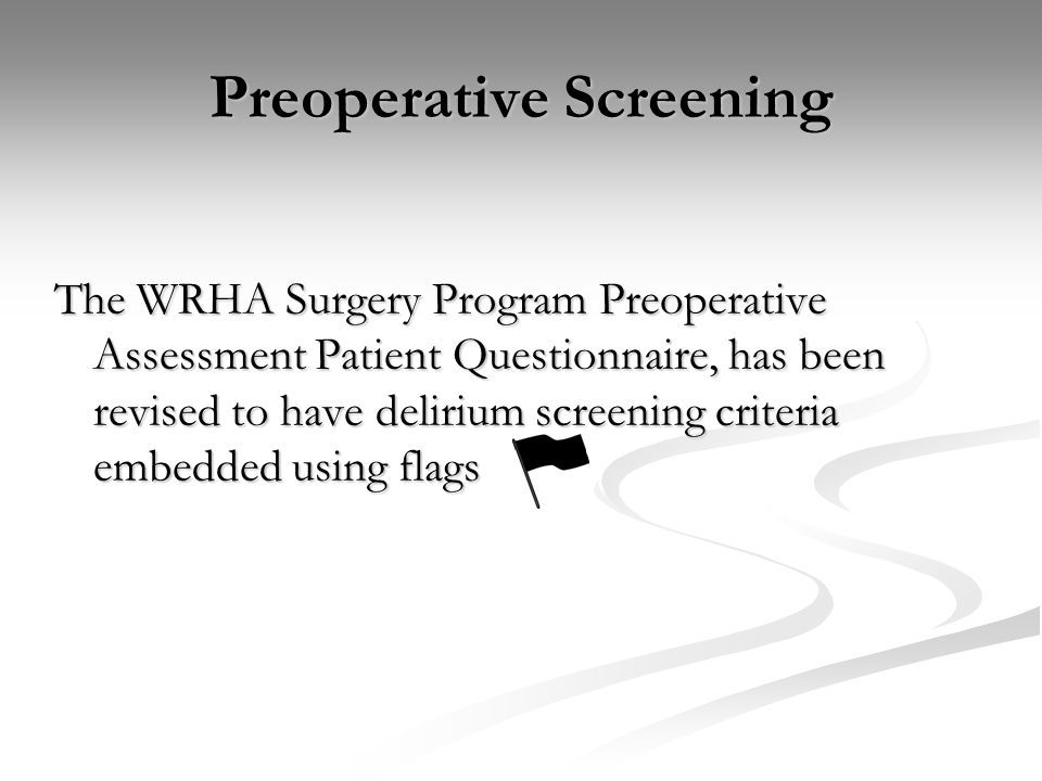 Preoperative Screening