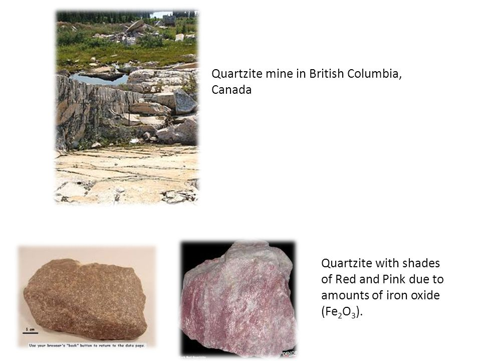 Quartzite mine in British Columbia, Canada