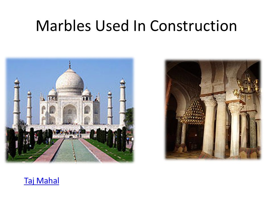 Marbles Used In Construction