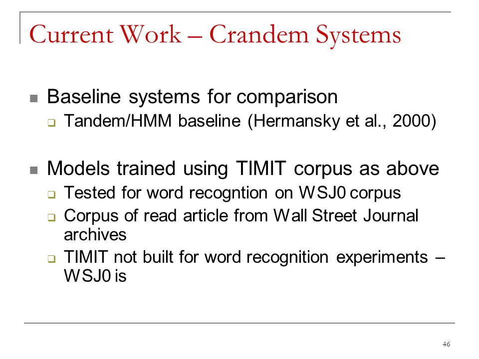 Current Work – Crandem Systems