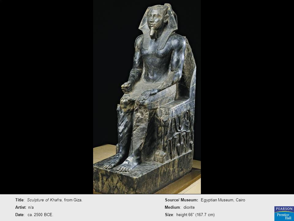 Title: Sculpture of Khafra, from Giza.