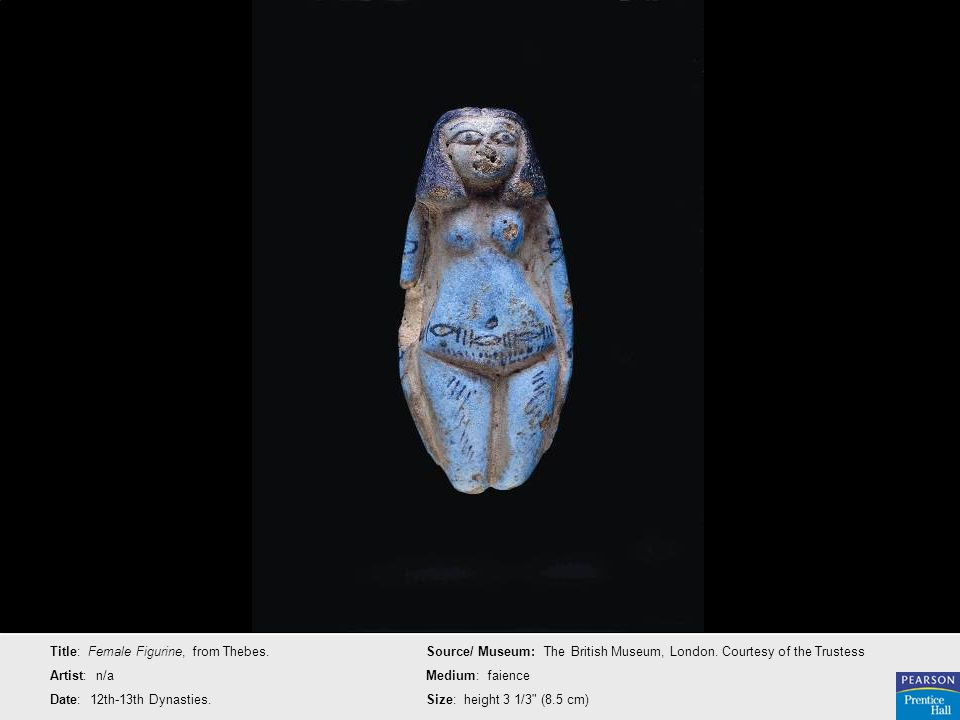 Title: Female Figurine, from Thebes.