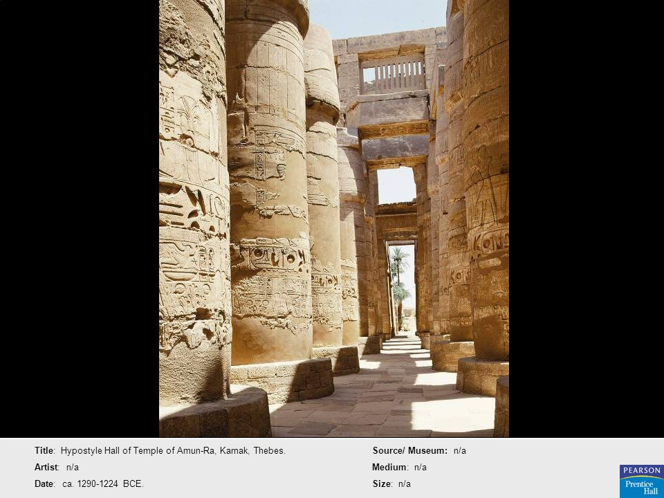 Title: Hypostyle Hall of Temple of Amun-Ra, Karnak, Thebes.