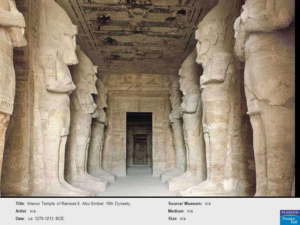 Title: Interior Temple of Ramses II, Abu Simbel. 19th Dynasty.