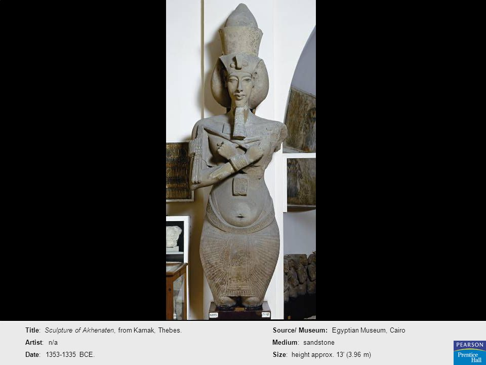 Title: Sculpture of Akhenaten, from Karnak, Thebes.