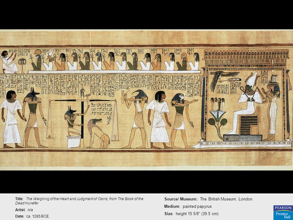 Source/ Museum: The British Museum, London Medium: painted papyrus