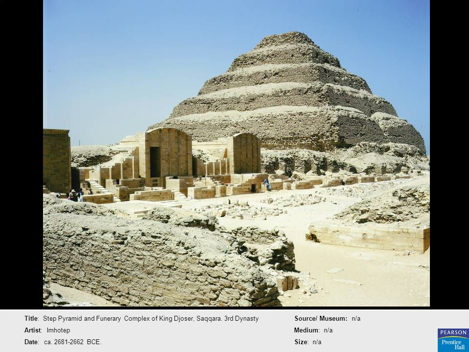 Title: Step Pyramid and Funerary Complex of King Djoser, Saqqara