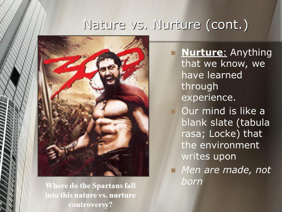 Nature vs. Nurture (cont.)