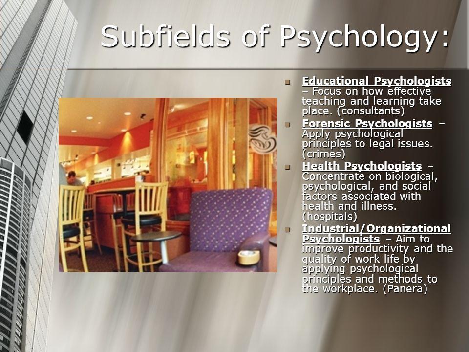 Subfields of Psychology: