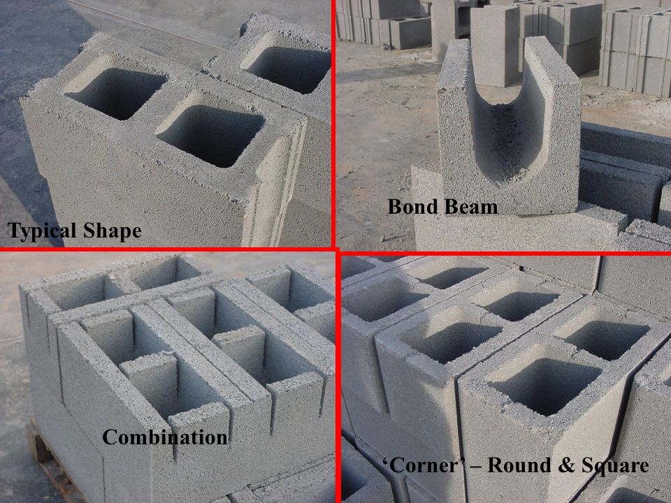 Bond Beam Typical Shape Combination 'Corner' – Round & Square
