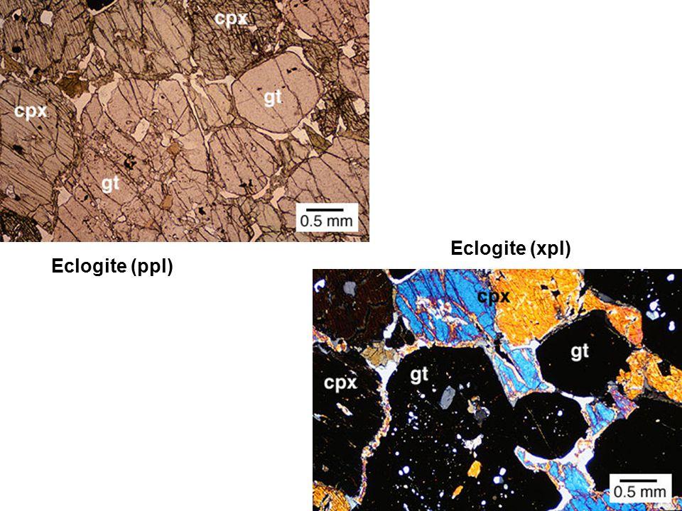 Eclogite (xpl) Eclogite (ppl)