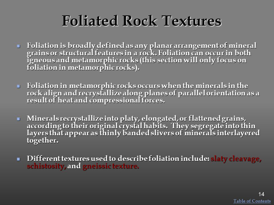 Foliated Rock Textures