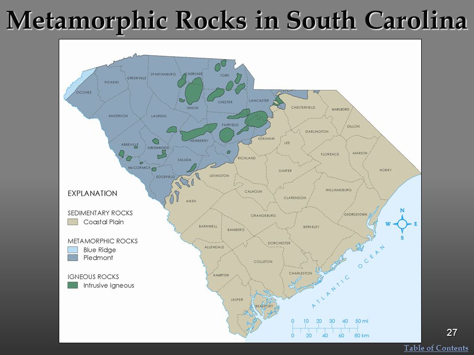 Metamorphic Rocks in South Carolina