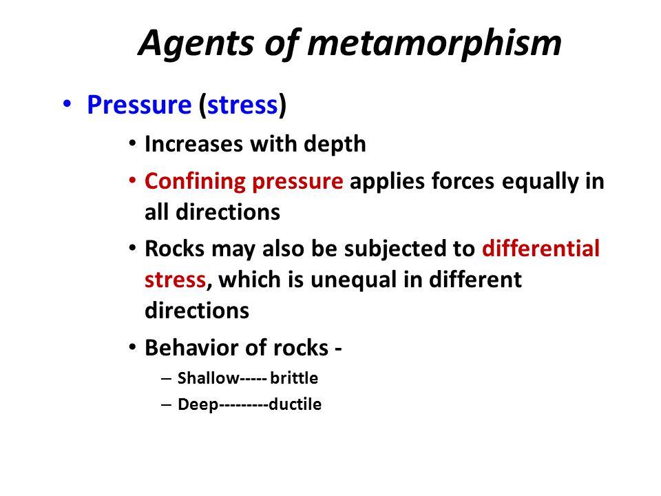 Agents of metamorphism