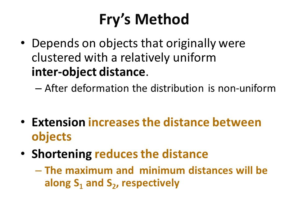 Fry's Method Depends on objects that originally were clustered with a relatively uniform inter-object distance.