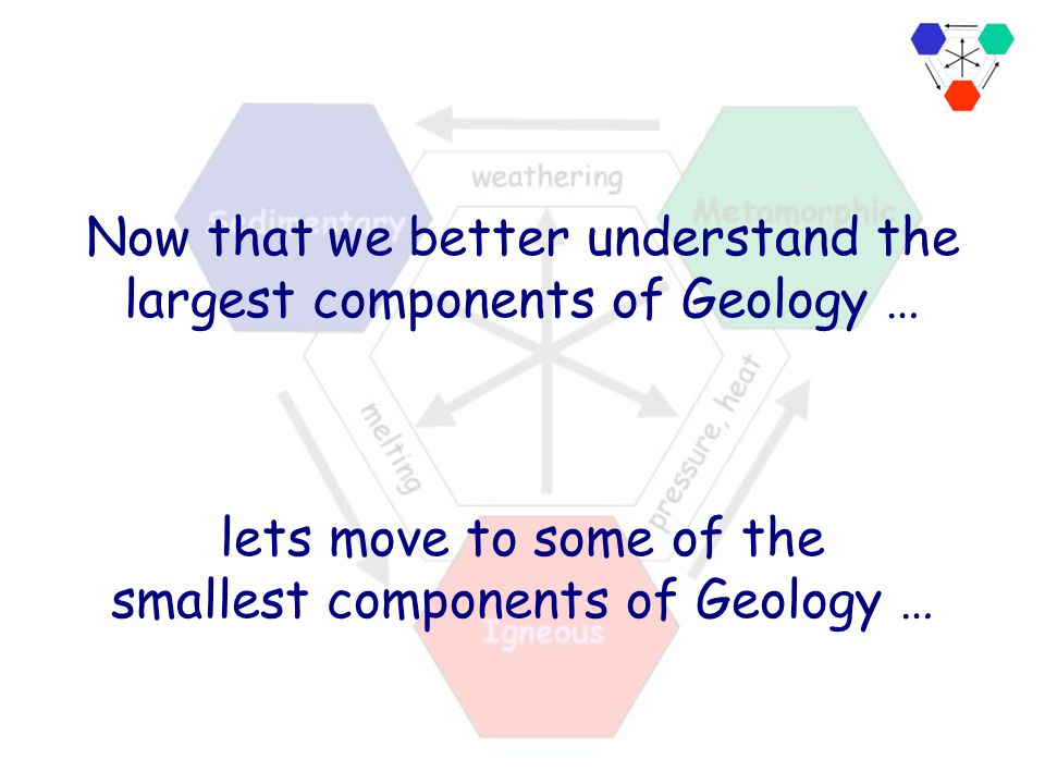 Now that we better understand the largest components of Geology …