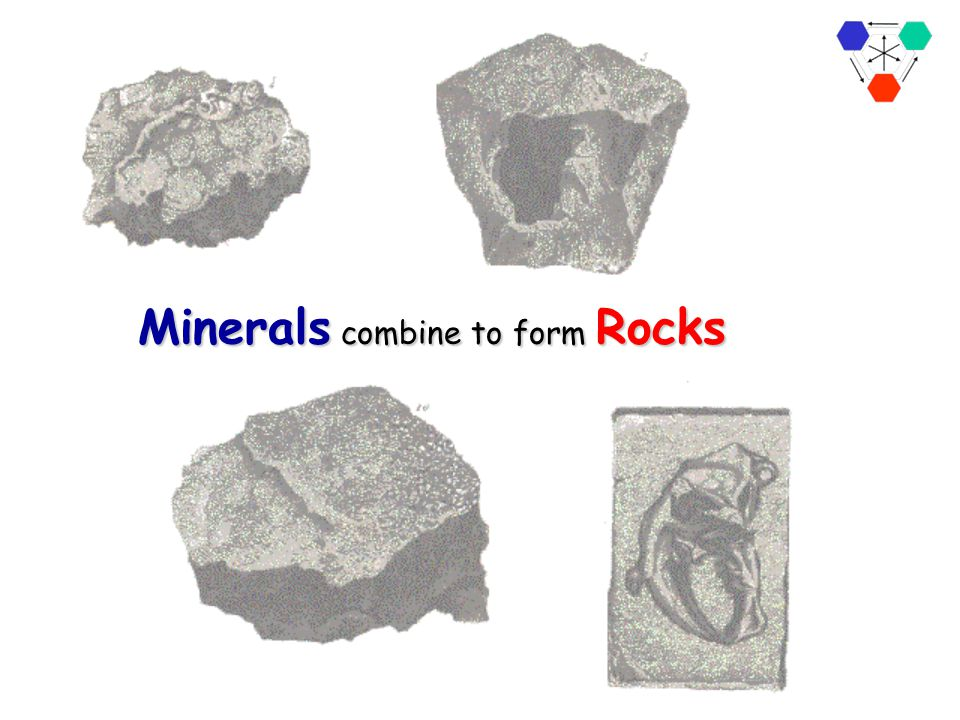 Minerals combine to form Rocks