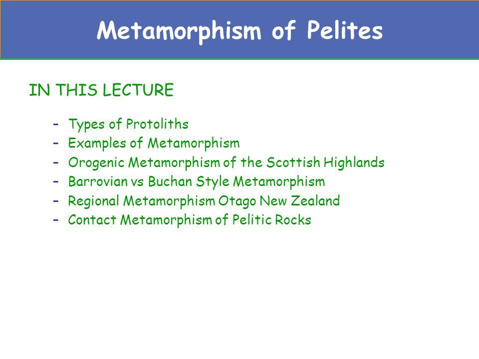 Metamorphism of Pelites