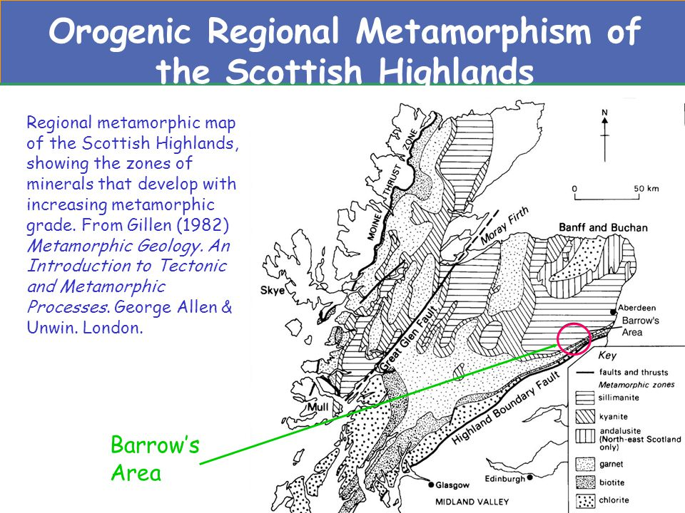 Orogenic Regional Metamorphism of the Scottish Highlands