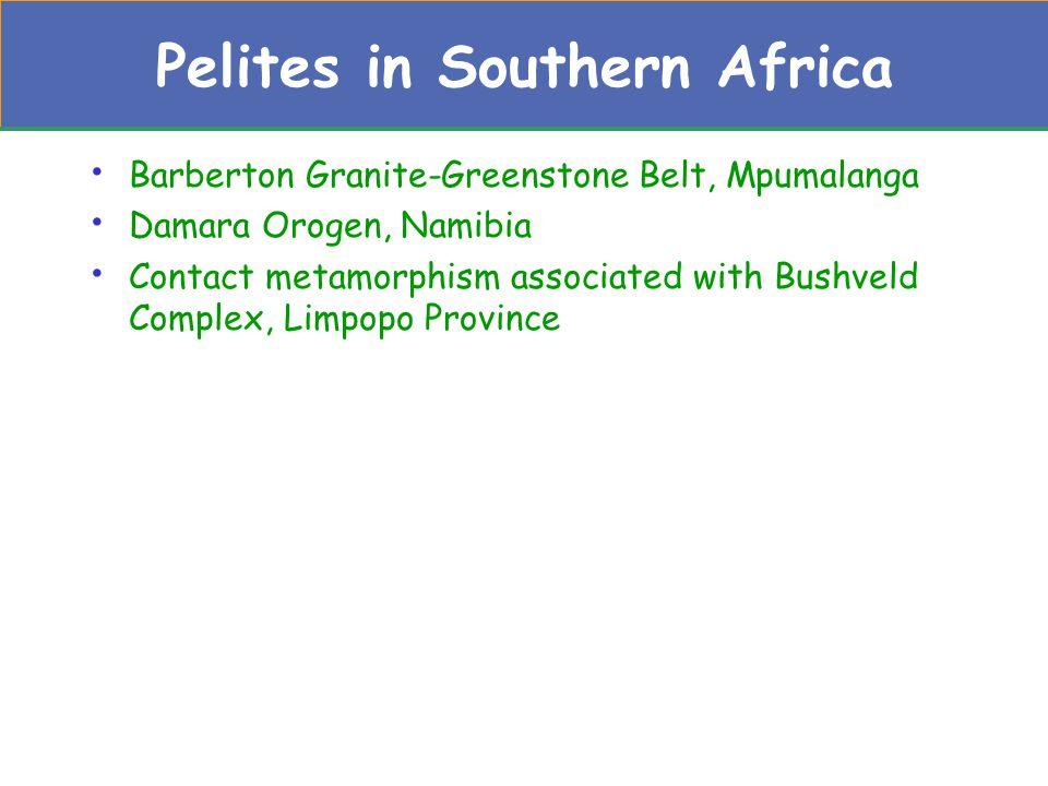 Pelites in Southern Africa