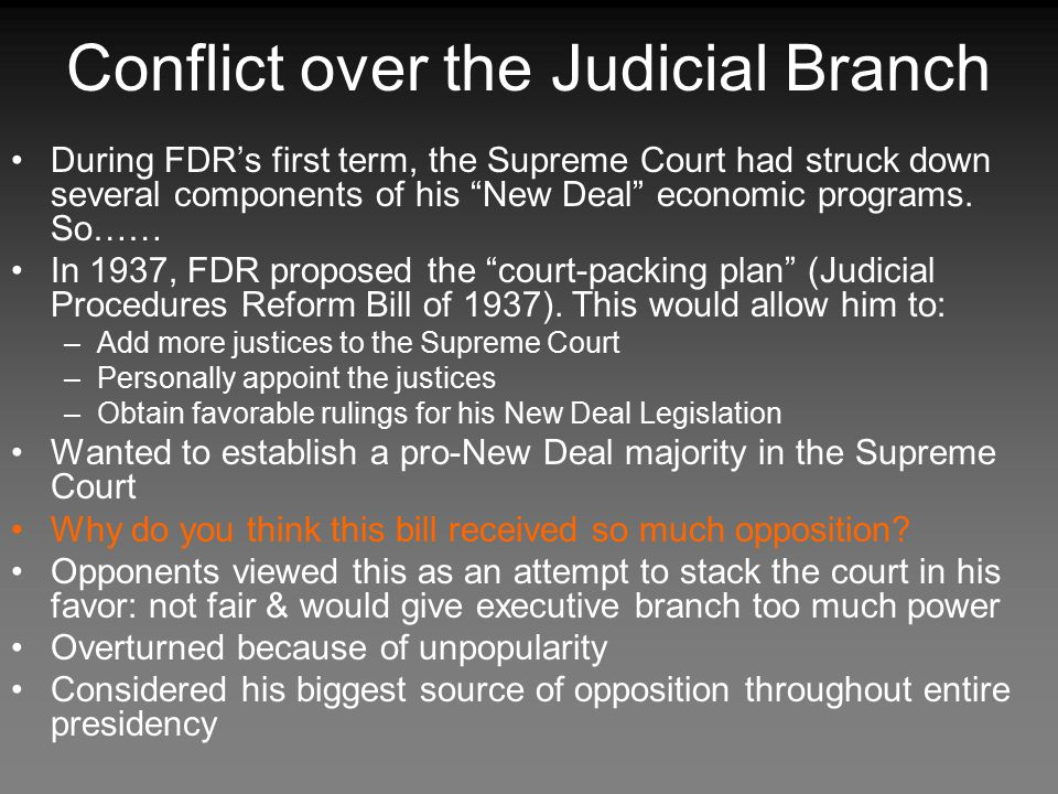 Conflict over the Judicial Branch