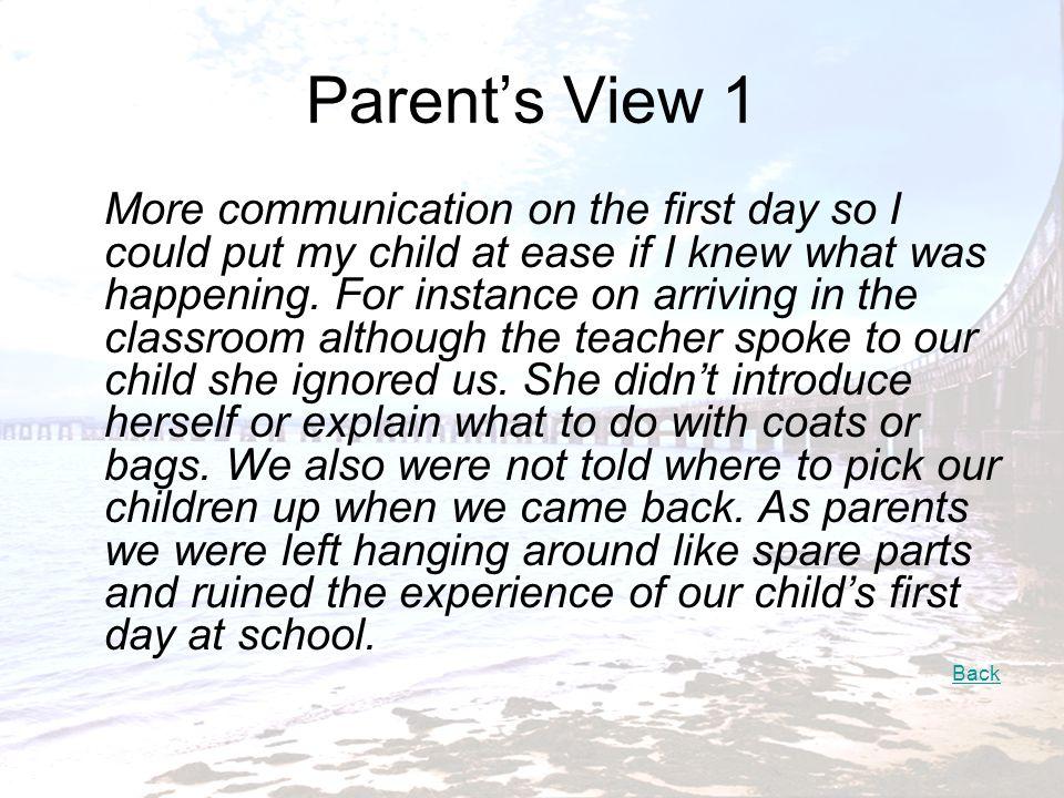 Parent's View 1