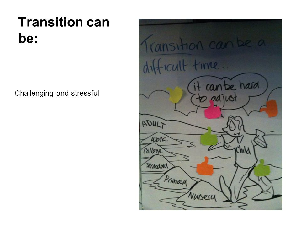 Transition can be: Challenging and stressful