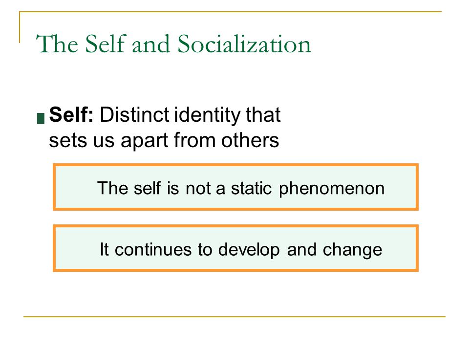 The Self and Socialization