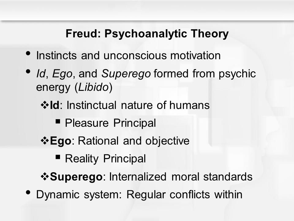 Freud: Psychoanalytic Theory