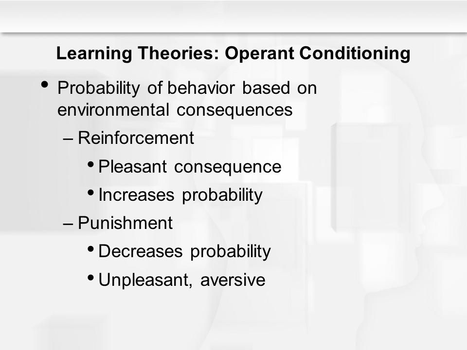 Learning Theories: Operant Conditioning