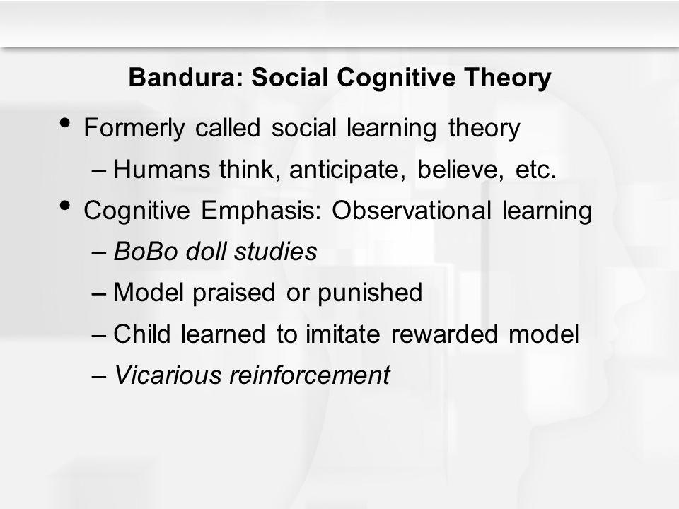 Bandura: Social Cognitive Theory