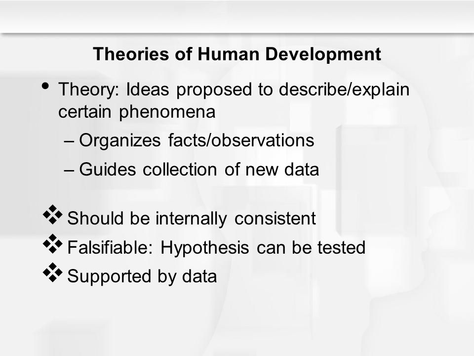 a discussion on the theories of human development Chapter 2: theories of human development 25 maturationist theory granville stanley hall (1844–1924) was a pioneering american psychologist and educator.