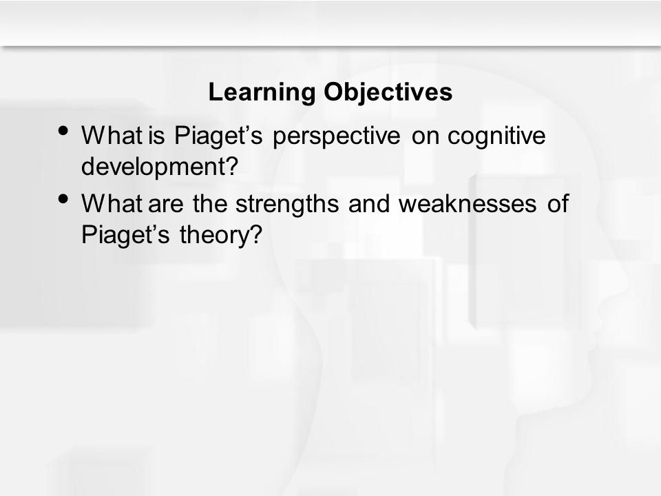 Learning Objectives What is Piaget's perspective on cognitive development.