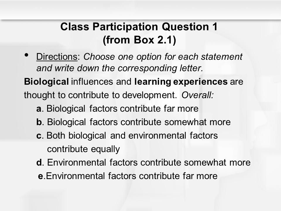 Class Participation Question 1 (from Box 2.1)