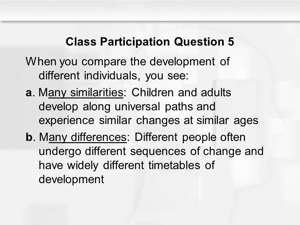 Class Participation Question 5