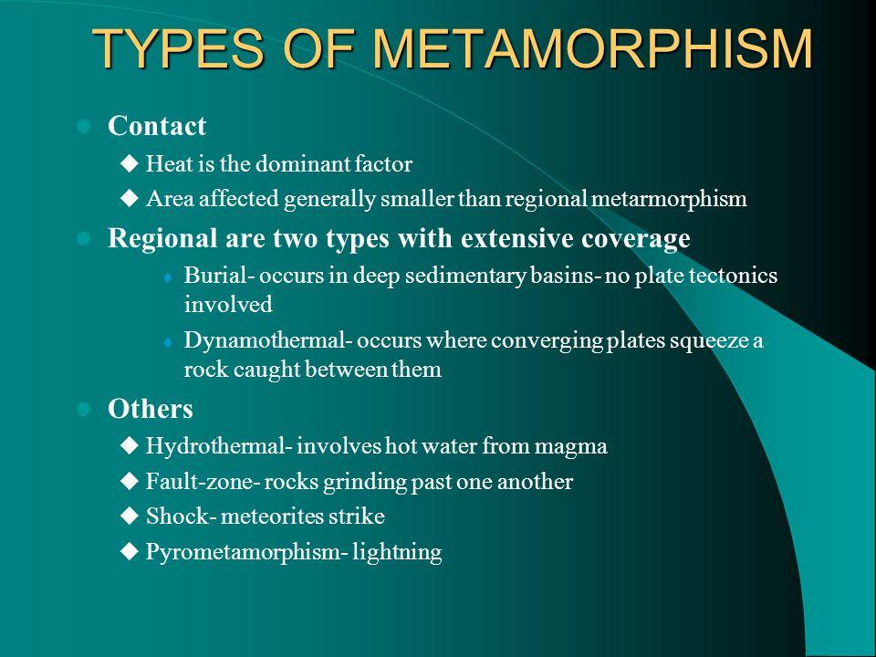 TYPES OF METAMORPHISM Contact
