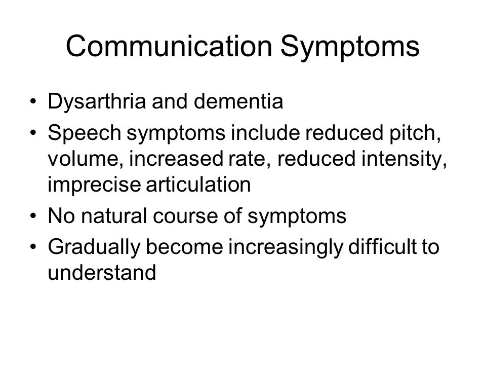 Communication Symptoms