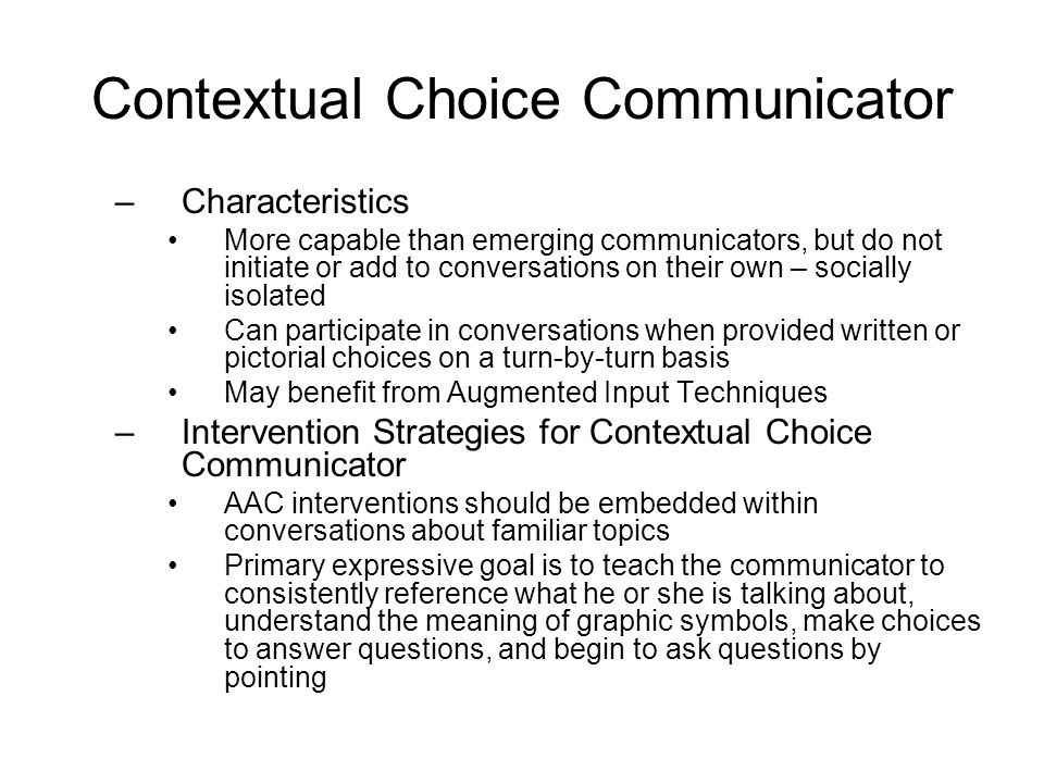 Contextual Choice Communicator