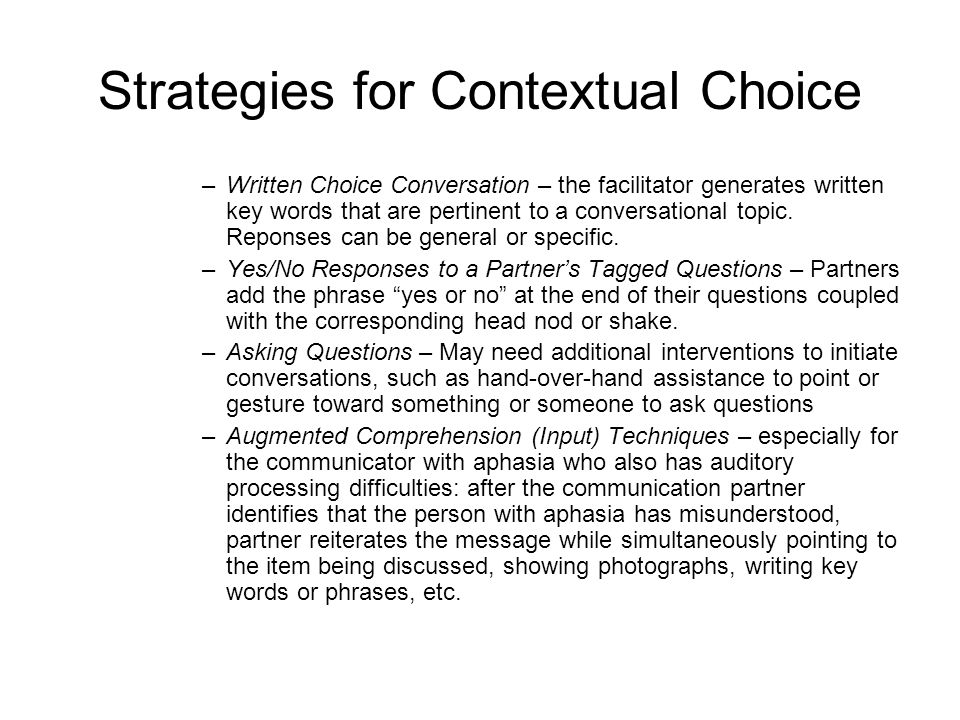 Strategies for Contextual Choice